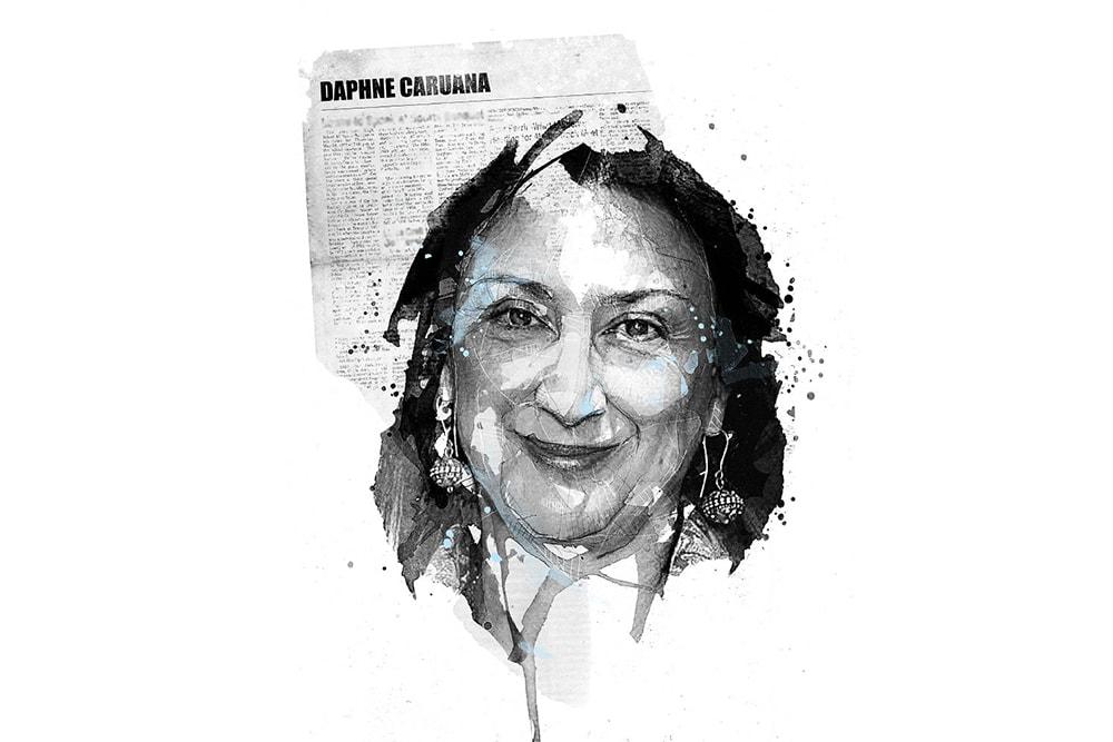 Illustration of Daphne Caruana Galizia