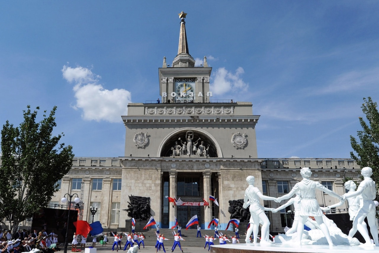 A view of the main railway station in the Volga River city of Volgograd, Russia, 23 August 2013, ALEXEY NIKOLSKY/AFP/Getty Images