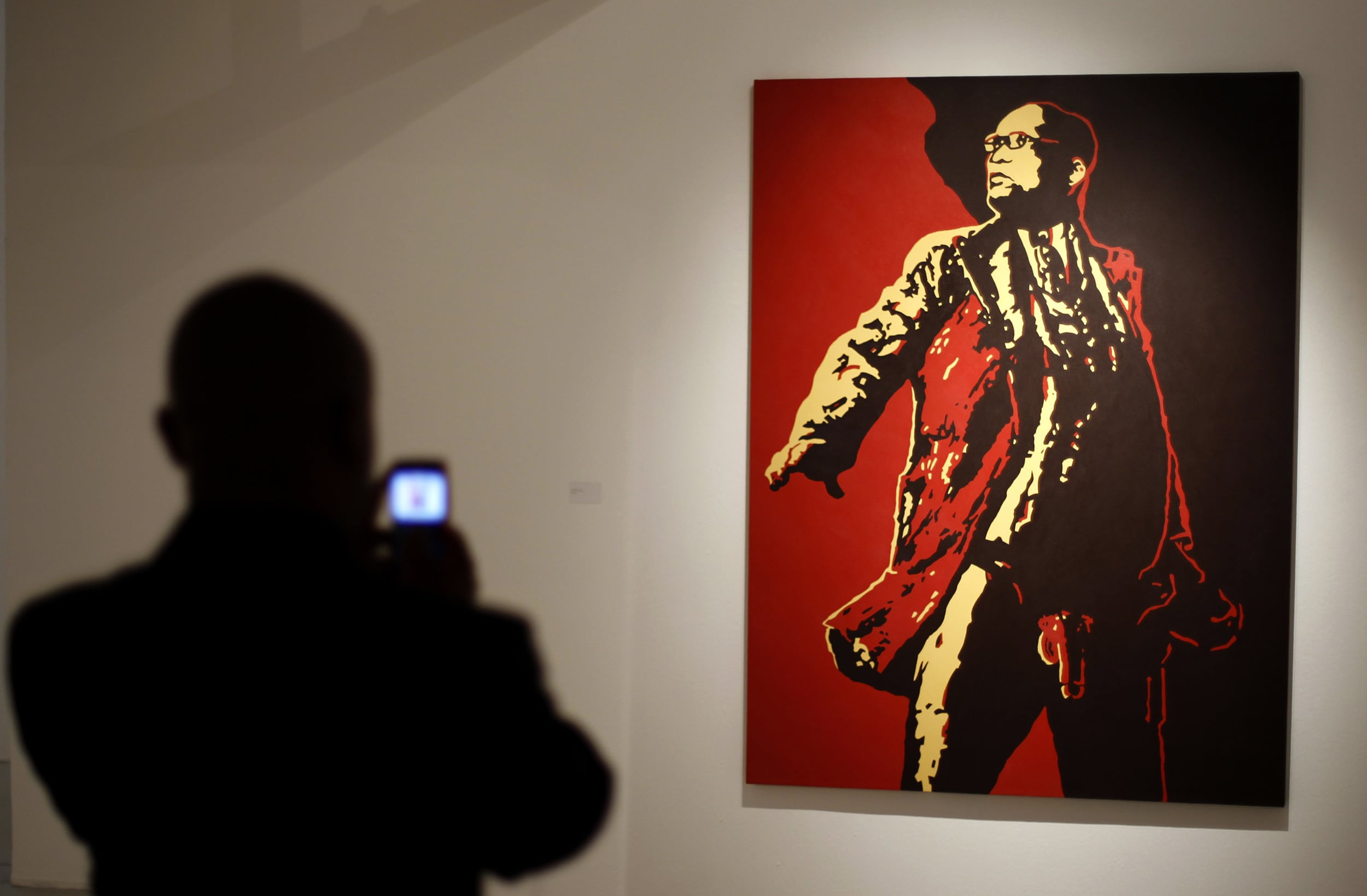 South Africa's ruling ANC threatened to take legal action against a Johannesburg gallery for displaying this painting of President Jacob Zuma because it violates his right to dignity and makes a mockery of his office, Siphiwe Sibeko/REUTERS