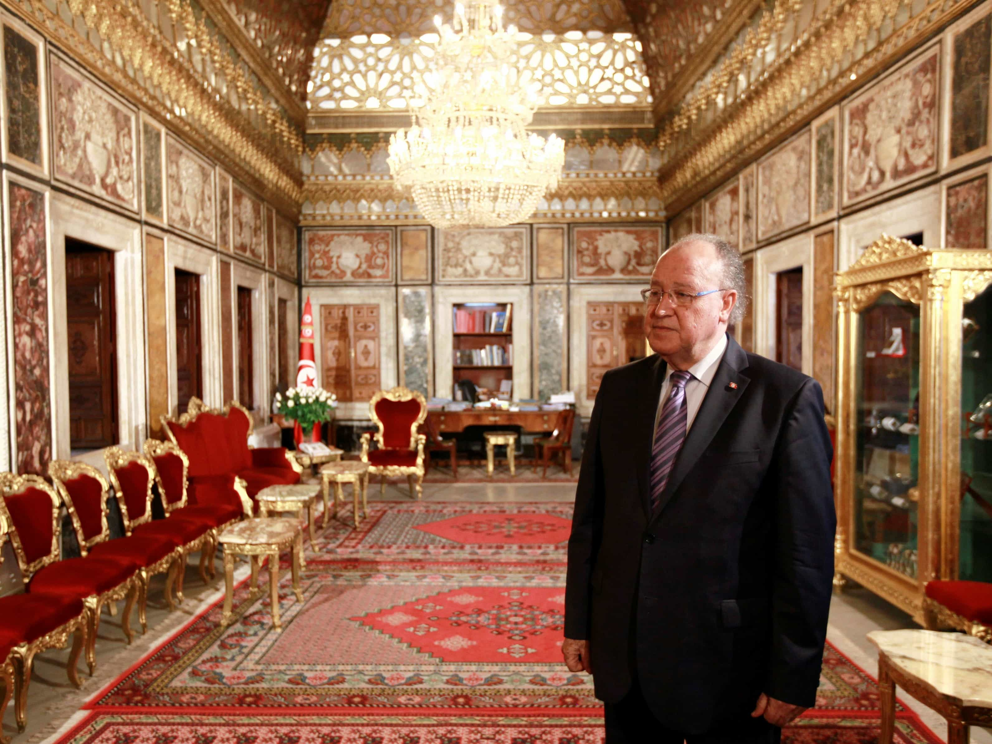 Tunisian Constituent Assembly President Mustapha Ben Jaafar in the assembly building in Tunis in November 2013. After months of crisis, a new constitution is about to be signed in to law., REUTERS/Anis Mili