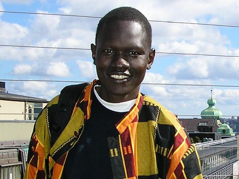 Dong Samuel Luak, a South Sudanese activist, who has been detained in Kenya and is at risk of unlawful return back to South Sudan., © 2011 Private