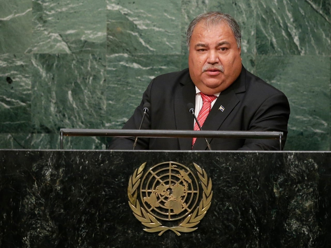 Baron Divavesi Waqa, President of Nauru, speaks during the 70th session of the United Nations General Assembly in New York, 30 September 2015, AP Photo/Frank Franklin II