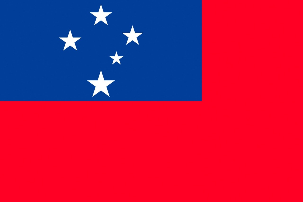 Flag of the Independent State of Samoa, 15 April 2015, Probst/ullstein bild via Getty Images