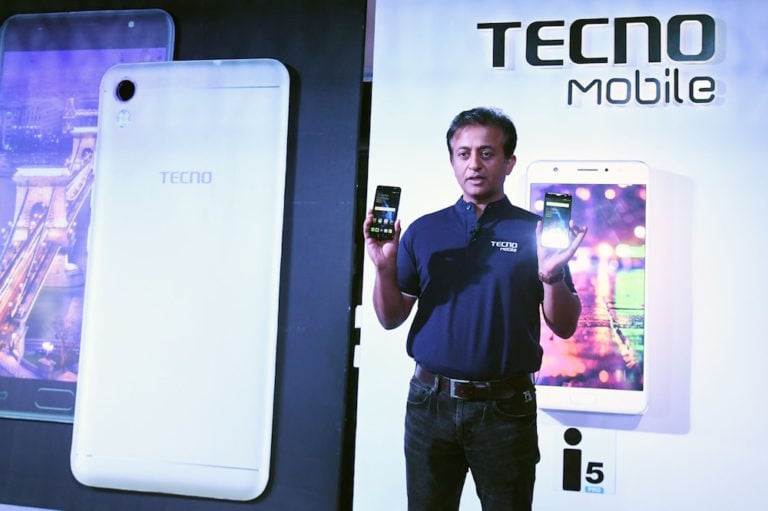 Anish Kapoor, CEO of Techno and Inflix India, presents some newly designed smartphones, in Kolkata, India, 23 August 2017, DIBYANGSHU SARKAR/AFP via Getty Images